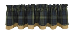Black Watch Layered Lined Valance