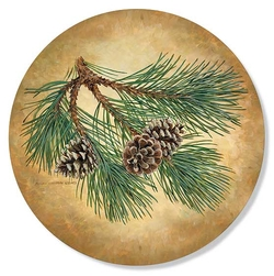Pinecone Coasters - Set of 4