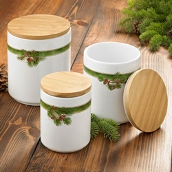 Pinecone Canisters - Set of 3
