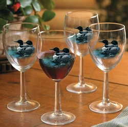 Loon Wine Glasses - 3 style choices