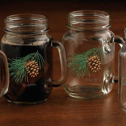 Pinecone Jar Glasses - Set of 4