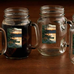 Canoe Sunrise Jar Glasses - Set of 2