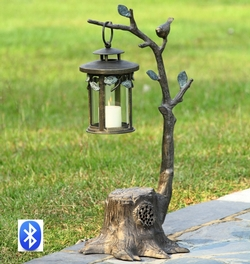 Bird on Branch Lantern with Bluetooth Speaker