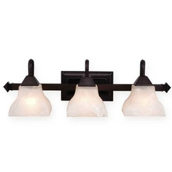 Cardiff 3 Light Vanity Light Oil Burnished Bronze