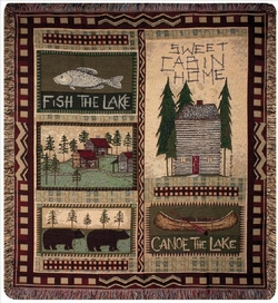 Big Bear Lodge Tapestry Throw
