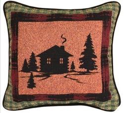 Bear Lodge Tapestry Reversible Pillow - Set of 2