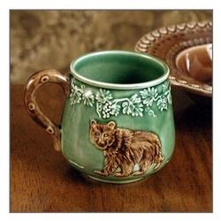 CE Corey Animals Bear Mugs & Cabin Rustic Lodge Decor Dinnerware   Dinnerware   Cabin 9 Design