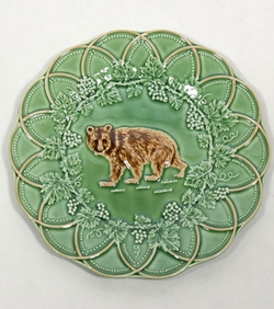 CE Corey Animals Bear plates : rustic lodge dinnerware - pezcame.com
