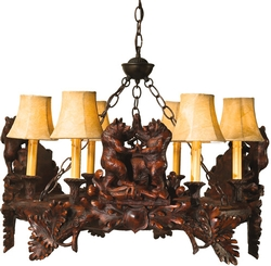 Cabin 9 Design Dancing Bears Chandelier
