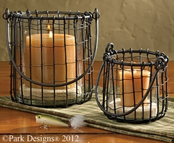 Fish Camp Wire Votive or Pillar Holder