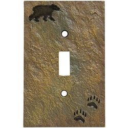 Bear and Tracks Switchplates