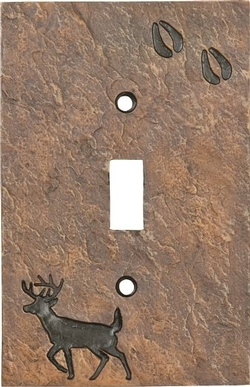 Deer and Tracks Switch plate