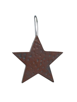Shower Curtain Hooks - Red Star - Set of 12