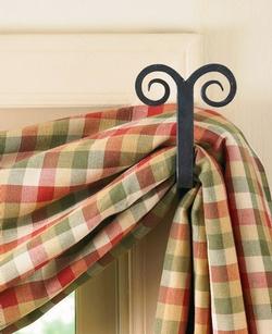 Forged Ram Curtain Hooks - One Set Left
