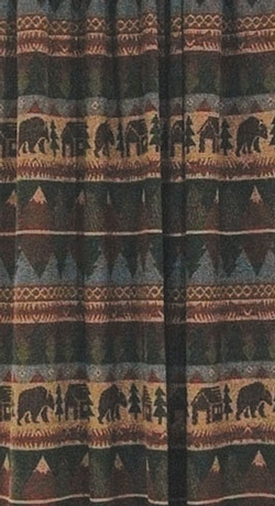 Cabin Bear Shower Curtain  72