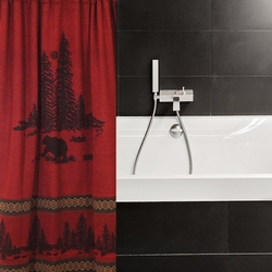 wooded river bear shower curtain 72