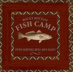 Fish Camp Beverage Paper Napkin