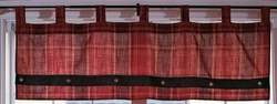 Sagamore Lake Plaid Valance