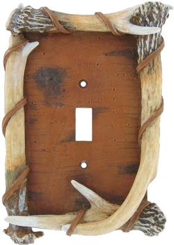 Bark and Faux Antler Switch Plates