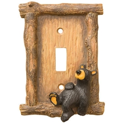 Relaxed Bear Switch Plate Cover