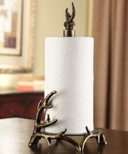 Bronze Finish Antler Paper Towel Holder