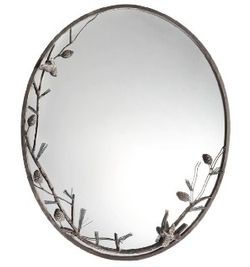 Pine Cone and Branch Wall Mirror
