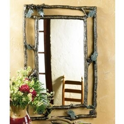 Pine Cone Branch Wall Mirror