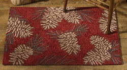 Pinecone Hooked Rug - 24