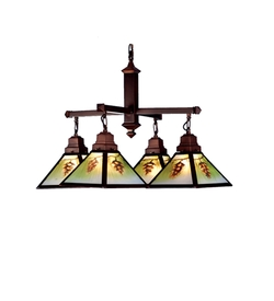 Northwoods Pinecone 4 Light Chandelier