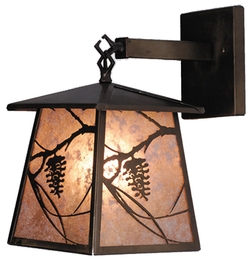 Whispering Pines Lantern Wall Sconce