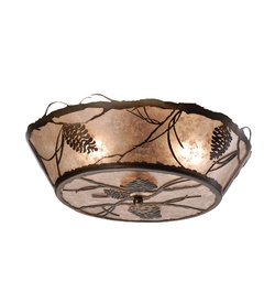 Pinecone Flush Mount 2 light Ceiling Fixture