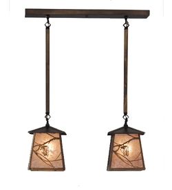 Whispering Pine 2 Light Mini Pendant