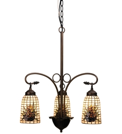 Pine Barons 3 Light Chandelier