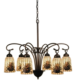 Pine Barons 6 Light Chandelier