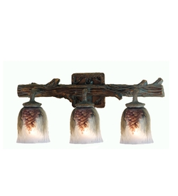 Northwoods Pinecone 3 Light Vanity Light