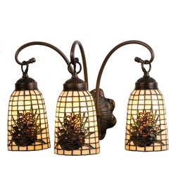 Pine Barons 3 Light Wall Sconce