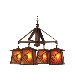 Whispering Pines 4 Light Chandelier