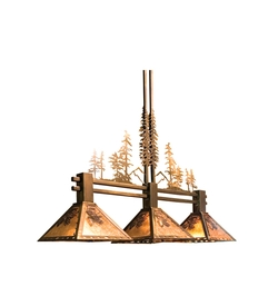 Winter Pine Tall Pines 3 Light Island Pendant