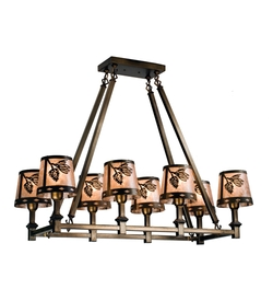Balsam Pine 8 Light Oblong Chandelier