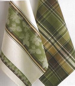 Pinecone Dish Towels - Set of 2