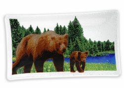 Peggy Karr Rectangular Bear Tray - 14