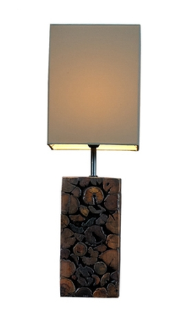 Mosaic Teak Sticks Lamp