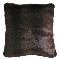 Brown Bear Fur Pillow