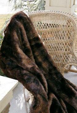 Bear Fur Throw