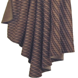Tan Plaid Throw - 54