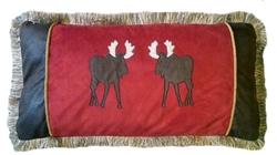 Twin Moose Oblong Pillow (shown on bed front left)