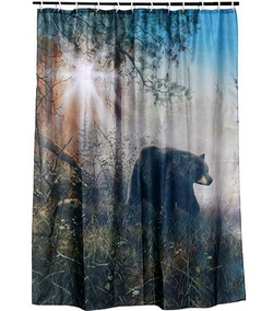 Shadow in the Mist Shower Curtain