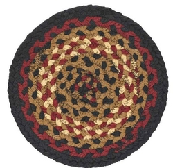 Folk Art Braided Trivet/Potholder - Set of 2