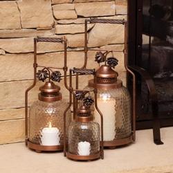 Copper Pinecone Lanterns