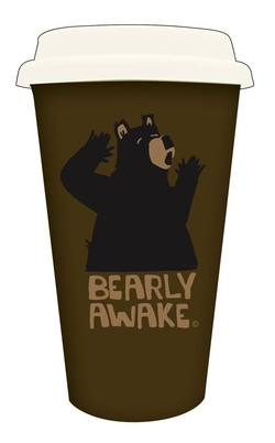 Bearly Awake Ceramic Double Wall Mug w/Silicone Lid 10 oz.
